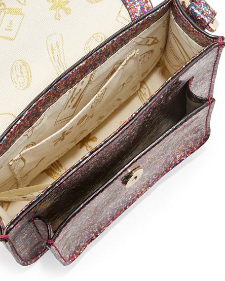 scout metallic patent leather crossbody bag, multicolor