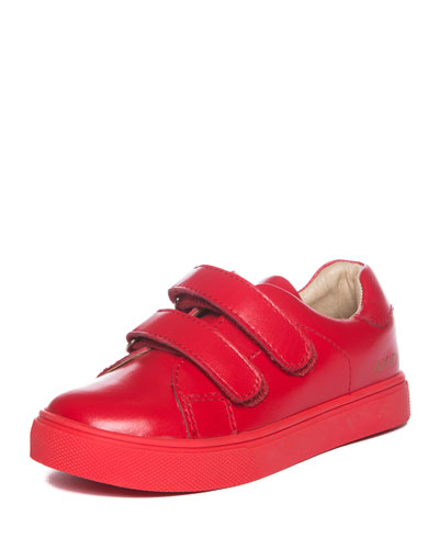 Axel Leather Low-Top Sneaker, Red, Toddler/Youth