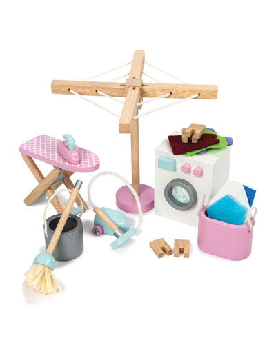 Wooden Laundry Room Play Set