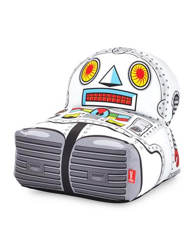 Kids' Plush Robot Pouf