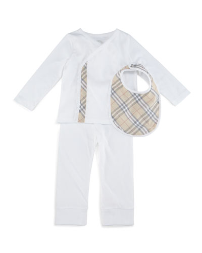 Berty Cotton 3-Piece Boxed Set, White, Size 3M-3Y