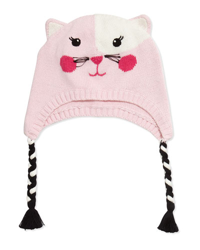 Knit Cat Hat, Pink