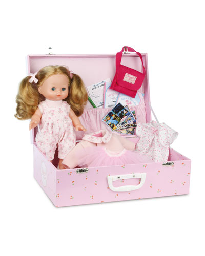 Blond Doll w/ Suitcase