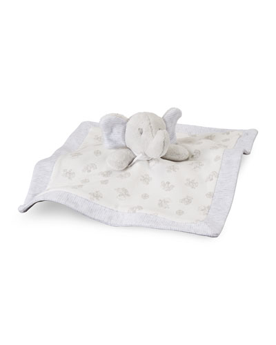 Elephant Security Blanket, Paper White/Multicolor