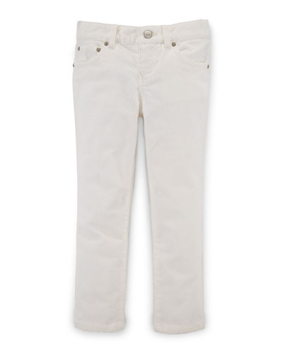 Skinny Corduroy Pants, Oyster Bay Cream, Size 2-6X