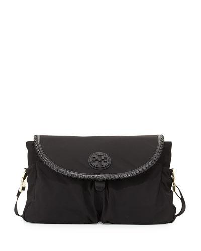 Marion Nylon Messenger Baby Bag, Black