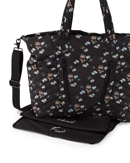 Yoko Orchid Print Baby Bag Black