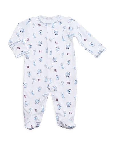 Good Sport Pima Footie Pajamas, Blue, Size Newborn-9 Months