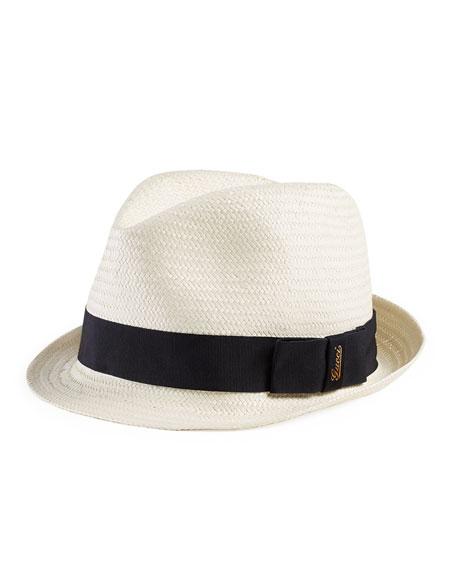 d7571c4e056 Gucci Kids  Woven Fedora Hat