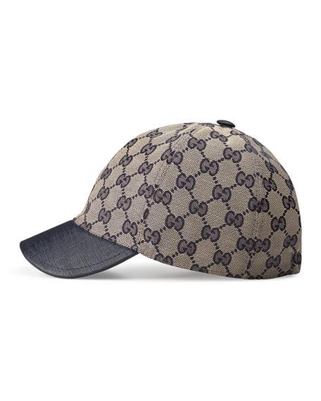 Gucci Kids' GG Supreme Baseball Cap, Beige/Blue