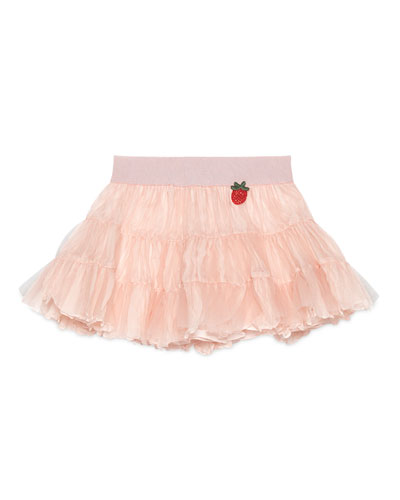Tiered Silk & Tulle A-Line Skirt, Size 18-36 Months
