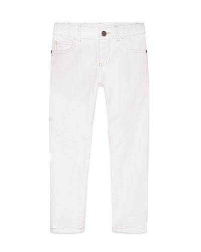 Skinny Stretch Jeans, White, Size 6-12