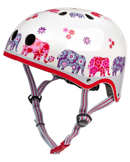 Girls' Elephant-Print Helmet