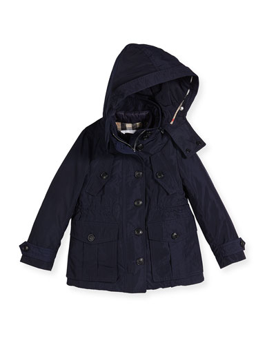 Chevrington 3-in-1 Hooded Jacket, Navy, Size 4-14