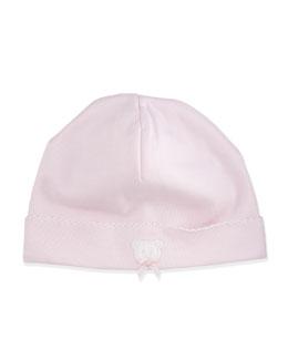 Pique Bears Pima Baby Hat, Pink