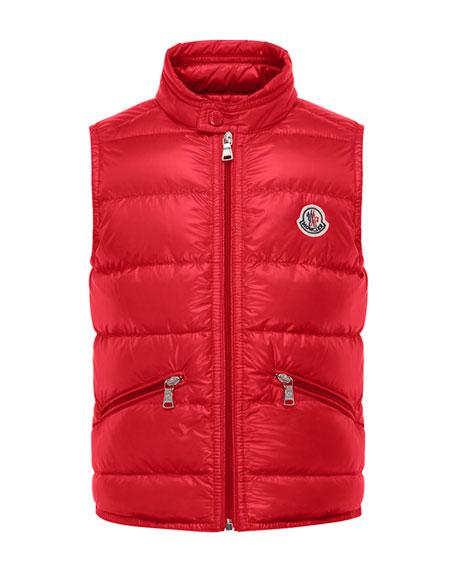 Moncler Gui Lightweight Down Puffer Vest, Size 4-6