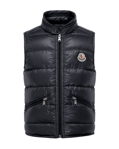 Gui Down Puffer Vest, Navy, Size 8-14
