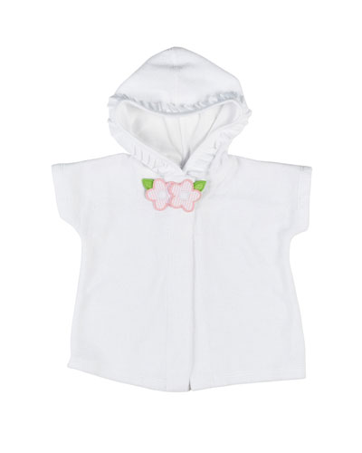 Hooded Terry Coverup, White, Size 2-4