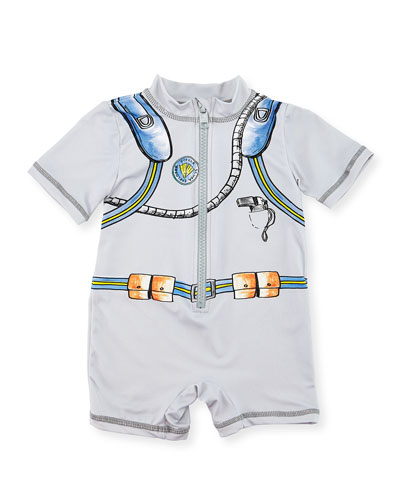 Sonny Scuba Gear Wet Suit, Gray, Size 6-24 Months