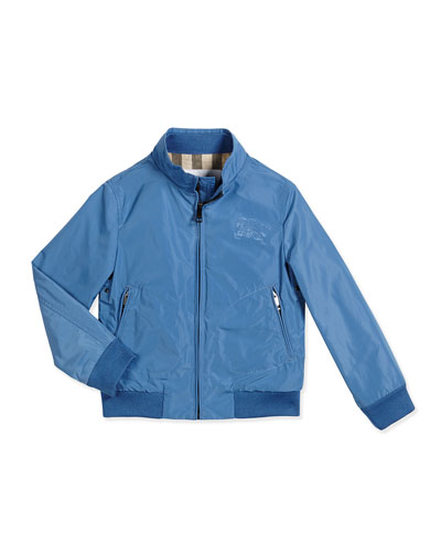 Bradford Zip-Front Jacket, Blue, Size 4-14