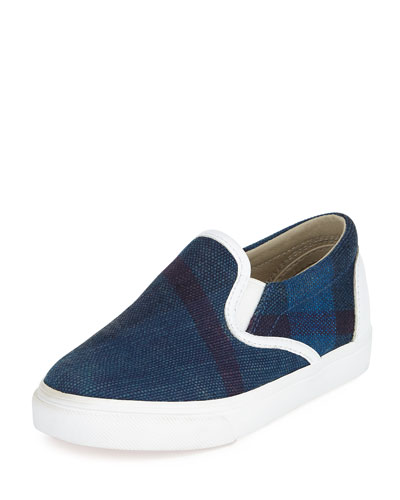 Linus Check Skate Shoe, Blue, Boys' Youth Sizes
