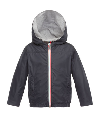 Urville Jersey-Lined Raincoat, Navy, Size 2-3