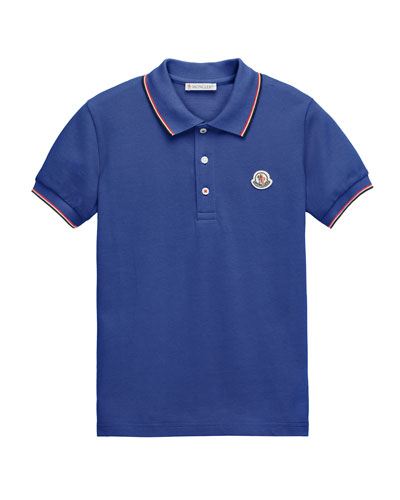 Cotton Pique Polo Shirt, Size 8-14