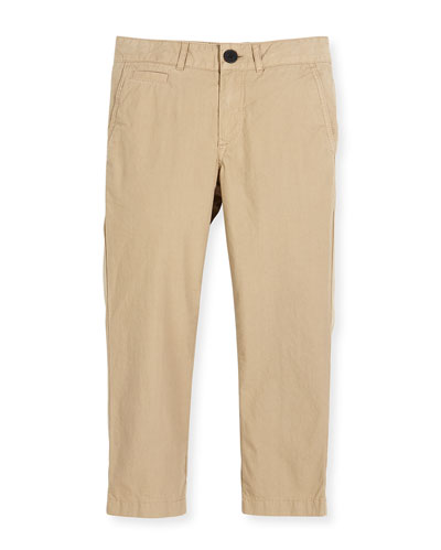 Bryan Twill Straight-Leg Pants, Size 4-14