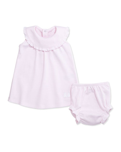 Sleeveless Gingham Cottontail Dress w/ Bloomers, Pink, Size 6-18 Months