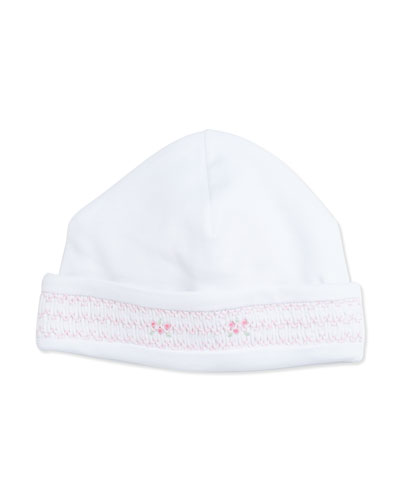 CLB Medley Pima Baby Hat, White/Pink