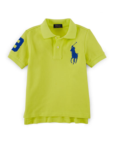 Short-Sleeve Cotton Pony Polo, Size 2-7