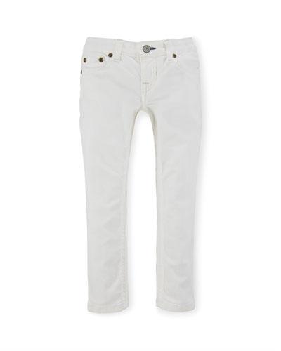Jemma Cotton Skinny Jeans, White, Size 8-10