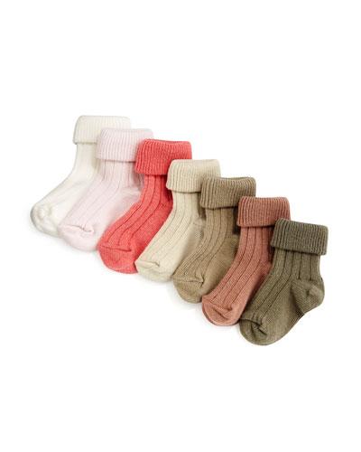 Ribbed-Knit Sock Set