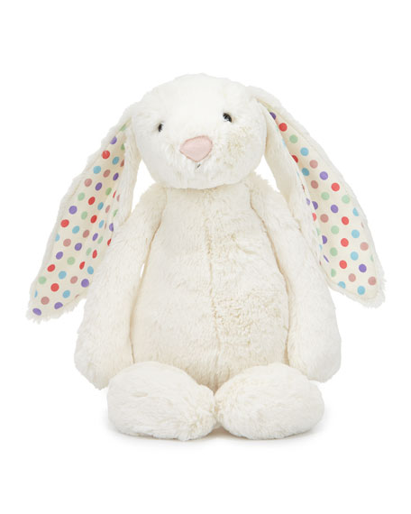 Jellycat Large Bashful Dot Bunny Stuffed Animal, Cream