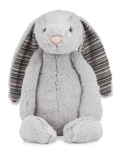 Large Bashful Blake Bunny Stuffed Animal, Gray