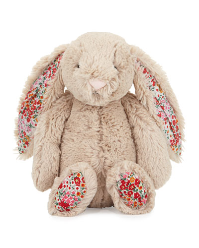 Medium Bashful Blossom Posy Bunny Stuffed Animal, Tan