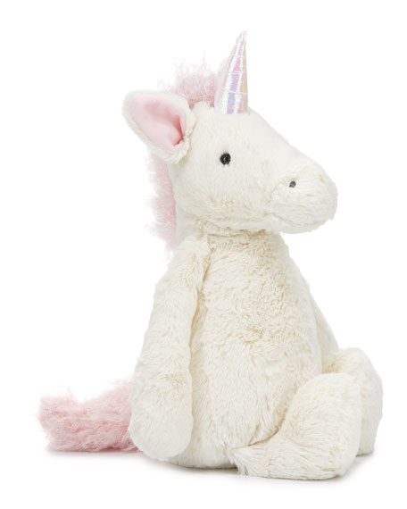 Jellycat Large Bashful Unicorn Stuffed Animal, Cream