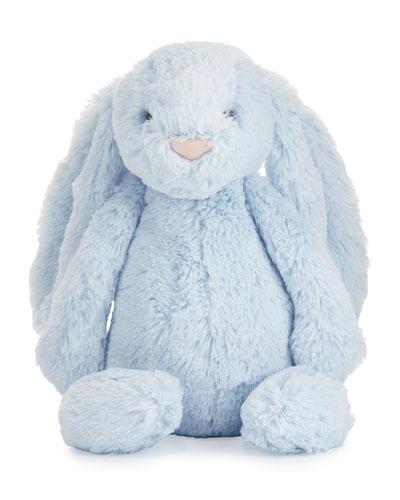 Plush Bashful Bunny Chime Stuffed Animal, Blue