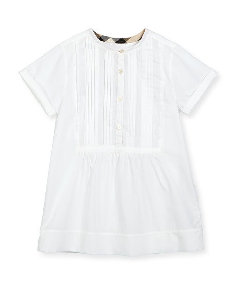 Dandy Short-Sleeve Beach Tunic, White, Size 4-14