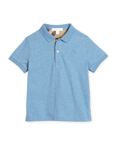 Mini PPM Jersey Polo Shirt, Hydrangea Blue, Size 4-14