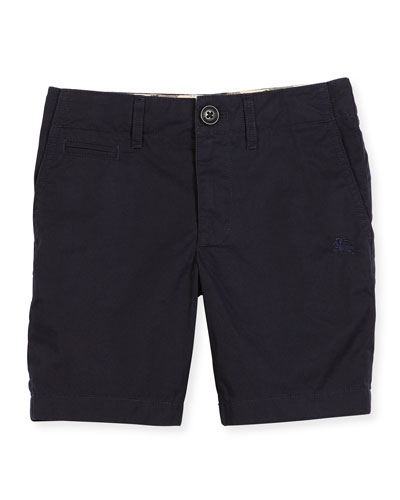 Tristen Lightweight Cotton Chino Shorts, Ink, Size 4-14