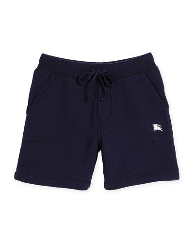 Davian Beach Sweat Shorts, Navy, Size 4-14