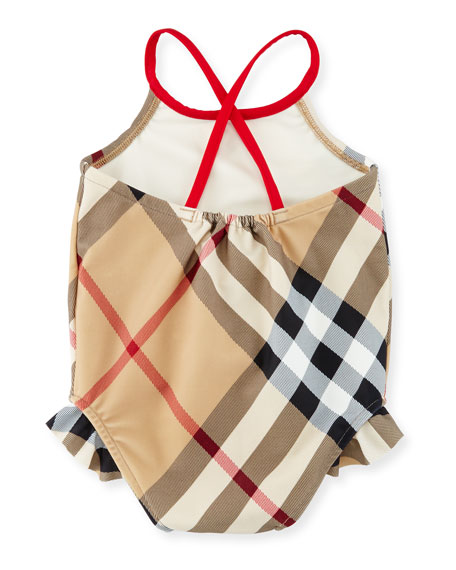 Lundy Check One-Piece Swimsuit, New Classic, Size 6M-3