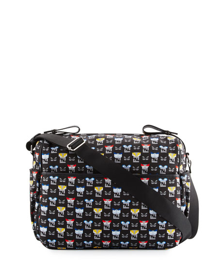 Fendi Canvas Monster-Print Diaper Bag 9193b98fa2334