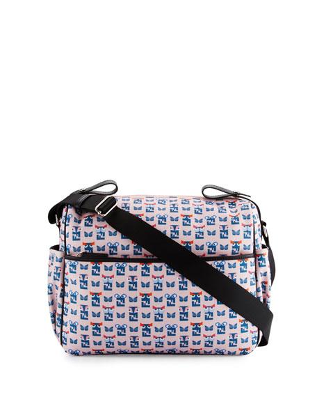 9bea365cd994 Fendi Canvas Monster-Print Diaper Bag