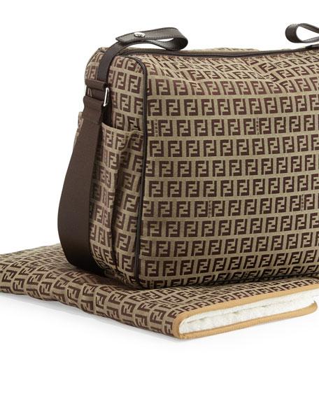 3c215f66d6db Fendi Leather-Trim Logo Diaper Bag