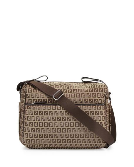Fendi Leather-Trim Logo Diaper Bag 7595fcb12f7e5