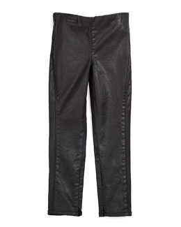 Coated Skinny Jeans, Black, Size 2T-6X