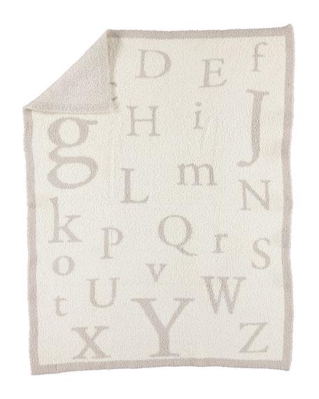 CozyChic® Alphabet Blanket, Stone/Cream
