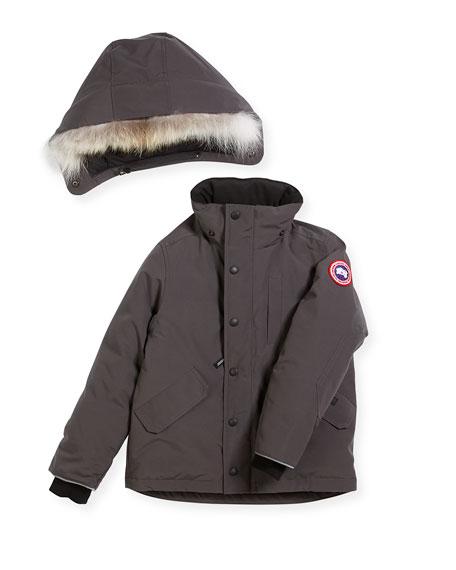 52d928ab0 Canada Goose Boys  Logan Parka with Fur Trim